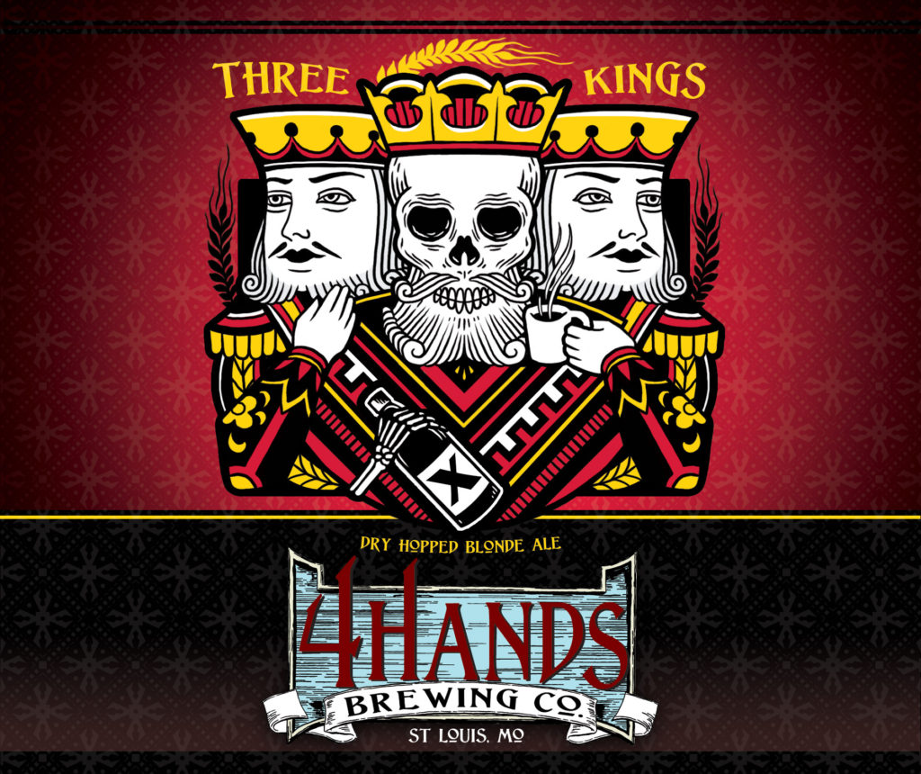 Three kings dry hopped blonde ale 4 hands three kings for King s fish house happy hour